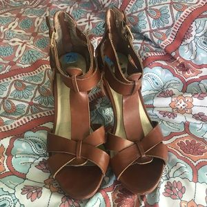G by Guess - Brown Strappy Heels